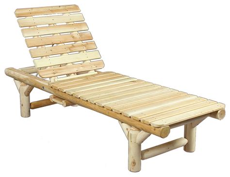 rustic chaise lounge rustic natural cedar 100017 outdoor wooden lounge chair