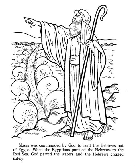 moses crossing the red sea coloring page az coloring pages