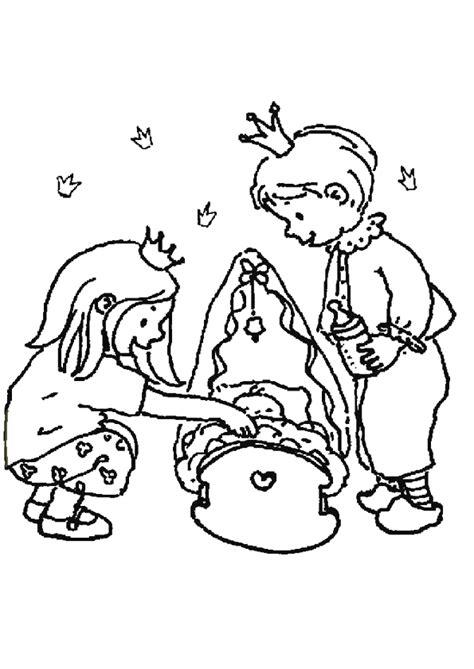 Coloriage Le Frère, La Sœur et Le Bébé Royaux