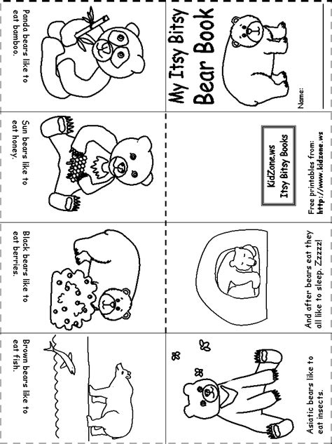 Itsy Bitsy Animals my itsy bitsy book hibernation unit preschool