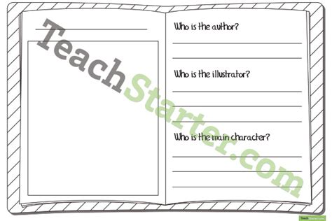 analysed book template book study template lower grades
