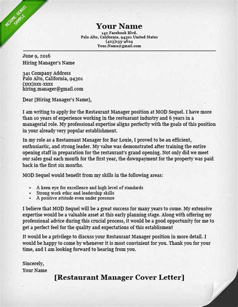 cover letter for restaurant job military bralicious co