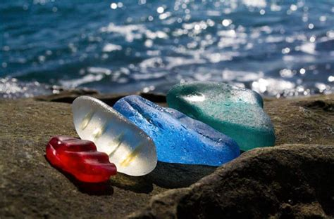 russian glass beach russians throw away empty vodka and beer bottles ocean