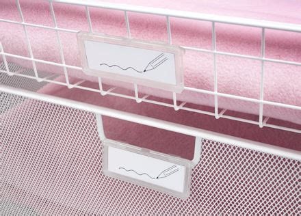 Drawer Label Holders by Elfa Drawer Label Holders Drawer Accessories From Elfa