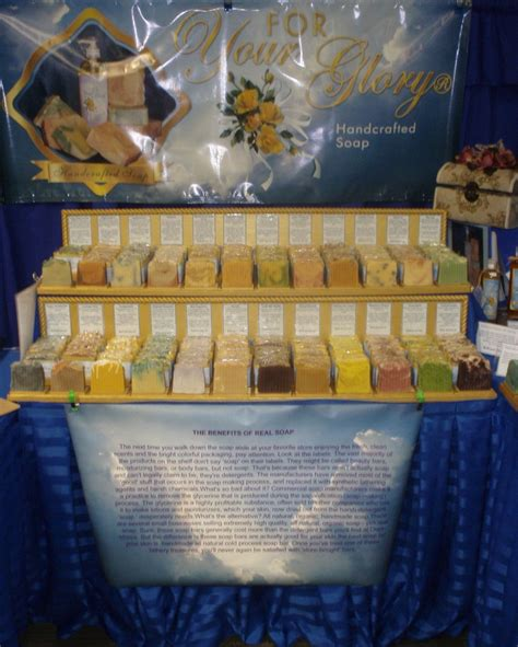 Handmade Soap Displays - handcrafted soap display expo soaps signs