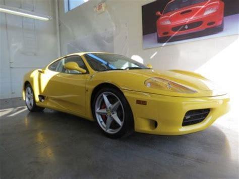 Ferrari 360 Sunroof by Find Used Modena Berlinetta Sunroof Giallo Modena Formula