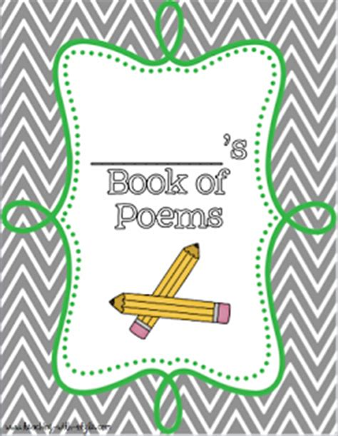 poetry booklet template tips for top teachers a smorgasboard of teaching