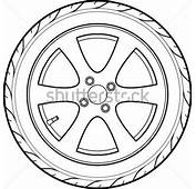 Tires Clipart Outline  Pencil And In Color