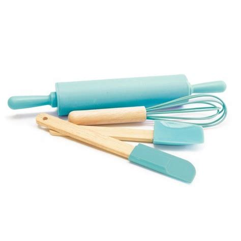 kit cuisine enfant kit p 226 tisserie 4 ustensiles enfant bleu scrapcooking