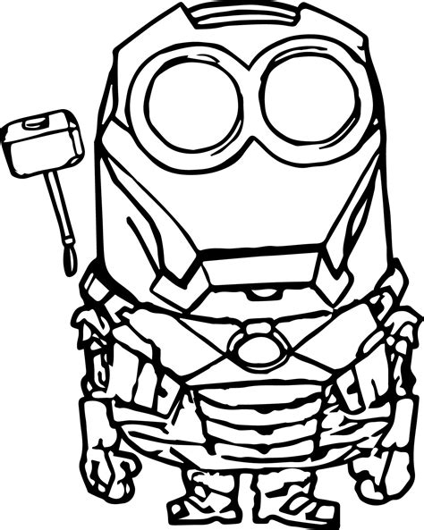 Iron Man Minion Coloring Page | iron man minion coloring pages coloringsuite com