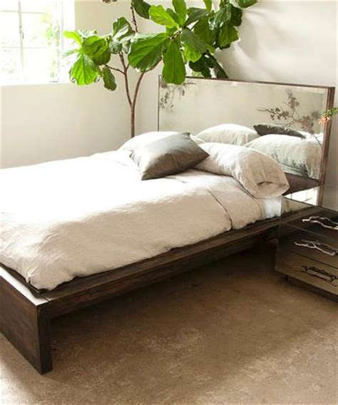 mirror bed frame brown queen bed with antique mirror thistle headboard and