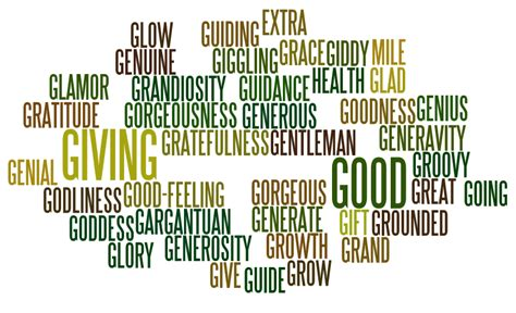 Character Traits Letter G Positive Words That Start With G