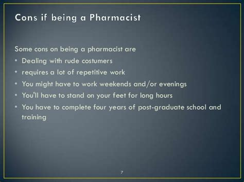 7 Pros And Cons Of Becoming A by Pharmacist