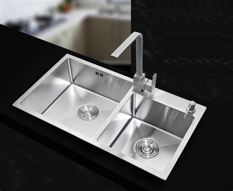 Kitchen Sink Price List 730 400 220mm Stainless Steel Undermount Kitchen Sinks Sets Bowl Drawing Drainer