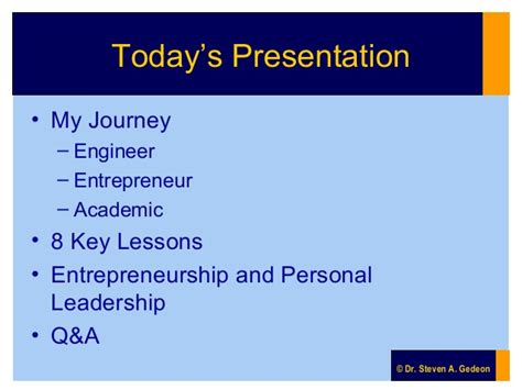 Entrepreneurship Ppt Mba by Advice To Engineers My Lessons Learned Going From