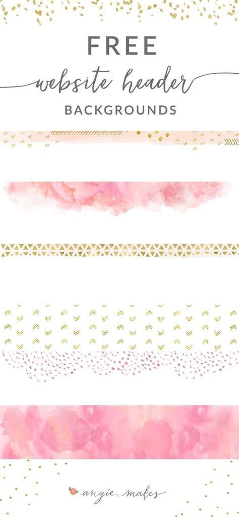 header design pink free pink gold website header backgrounds too cute