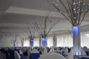 Lily Vase Centrepiece Winter Wonderland Wedding Centrepiece Hire