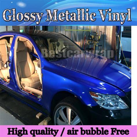 film blue car metallic glossy blue car wrap film midnight blue shiny