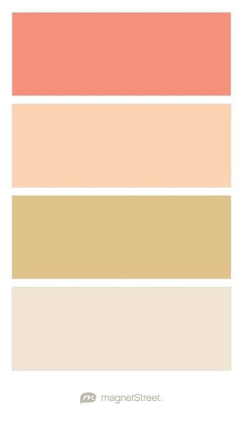coral gold and chagne wedding color palette custom color palette created at