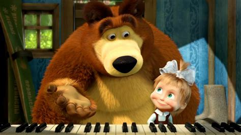 tutorial piano masha and the bear youtube masha and the bear masha images pictures