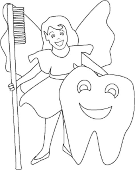 coloring page of tooth fairy happy tooth and tooth fairy coloring page