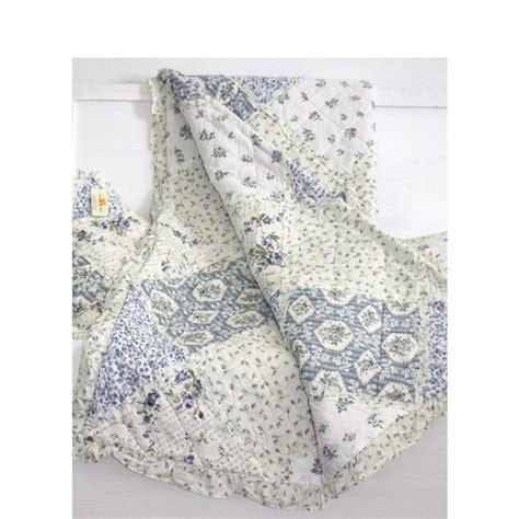 tagesdecke plaid clayre eef tagesdecke quilt plaid hortensia blau wei 223