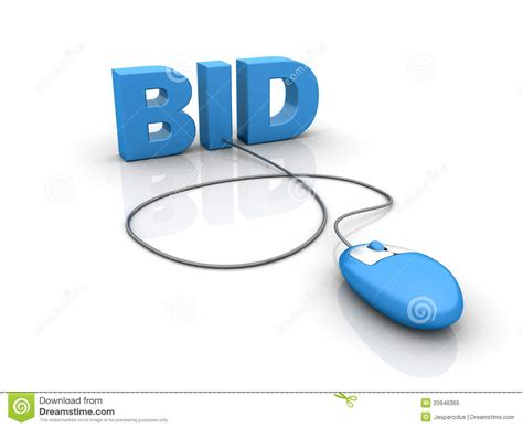 bid on auction bid stock illustration image of