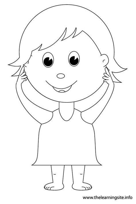 body parts coloring pages for kids coloring home