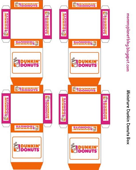 printable elf donut box template mommy planet plan it save it share it miniature