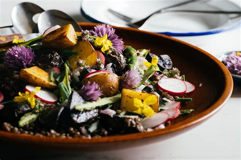 Potato Salad Decoration by Roasted Potato Salad W Lentils Asparagus Radish