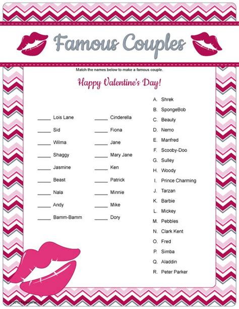 printable card games for couples famous couples game printable valentine s game or have