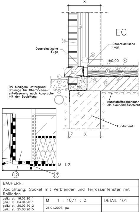 sockel zweischaliges mauerwerk abdichtung sockel mit bodenstehendes terrassenfenster avanet