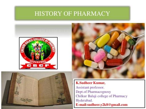 History Of Pharmacy by History Of Pharmacy