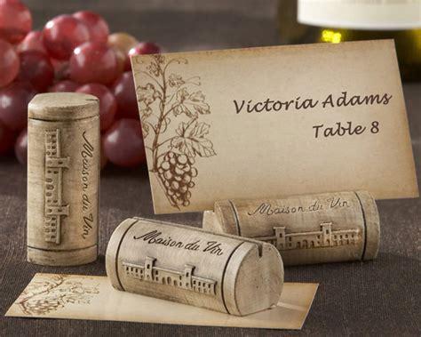 cork name holders quot maison du vin quot wine cork place card photo holder with