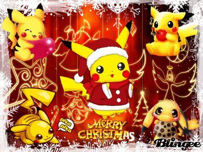 imagenes de feliz navidad glitter pikachu navidad picture 127419596 blingee com