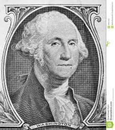 george washington portrait on one dollar bill stock photo