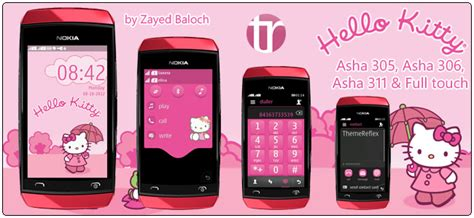 themes of nokia asha 306 hello kitty themes themereflex