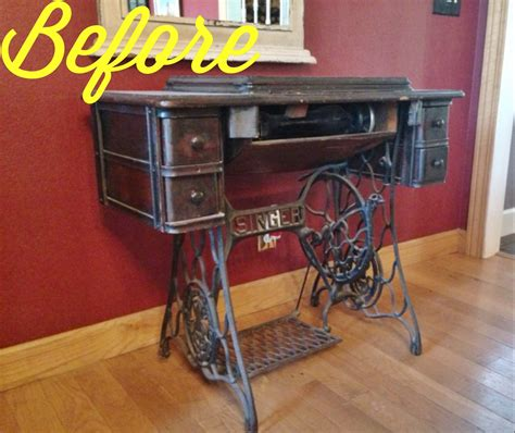 vintage this repurpose that repurposed antique sewing machine leaving our trail