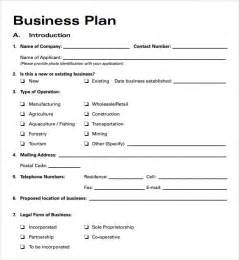 excel template for business plan business plan templates 6 free documents in