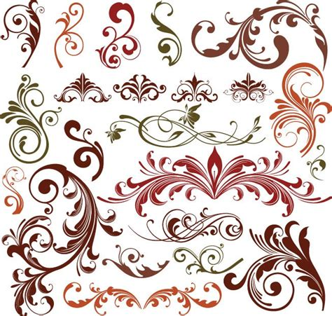 design pattern coreldraw floral design elements vector set free vector graphics