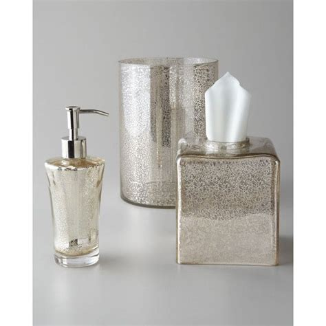 mercury glass bathroom accessories vizcaya vanity set crackled silver mercury tissue box