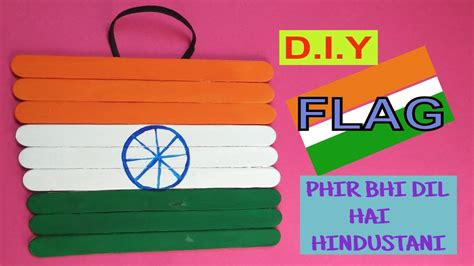 independence day crafts flag with sticks popsicle stick craft