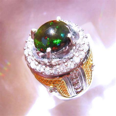 Kalimaya Banten Cutting Oval batu mulia black opal kalimaya non heat cincinpermata