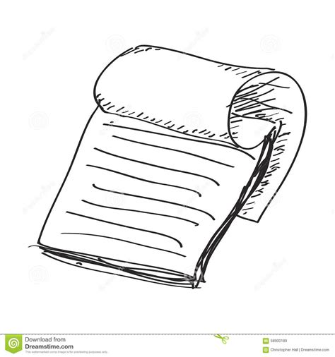 doodle notepad simple doodle of a notepad stock vector image 58900189