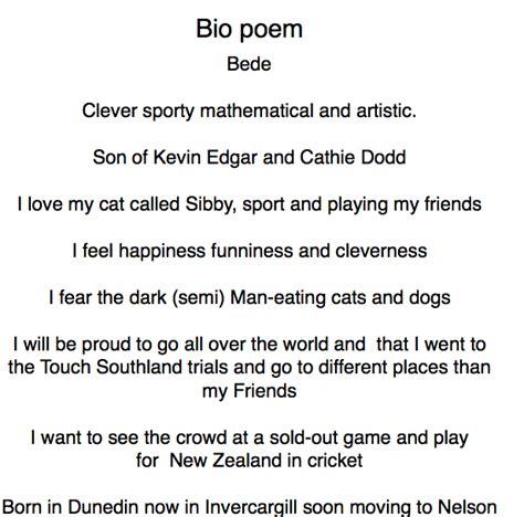 oceans of teaching ideas bio poem must have freebie till exles of bio poems
