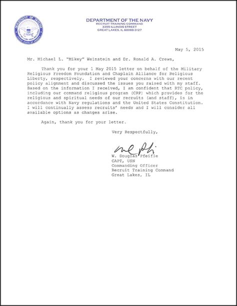 Endorsement Letter Navy Mrff Causes Navy To Do A 180 176