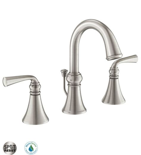 moen brushed nickel kitchen faucet faucet 84855srn in spot resist brushed nickel by moen
