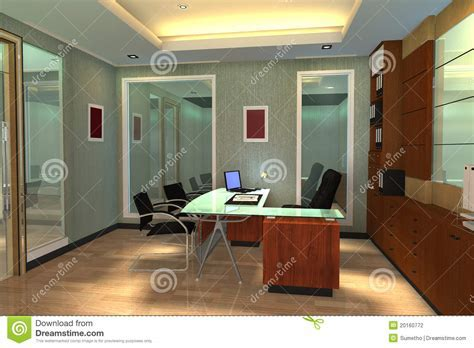 3d Render Modern Interior Of Office Space Stock