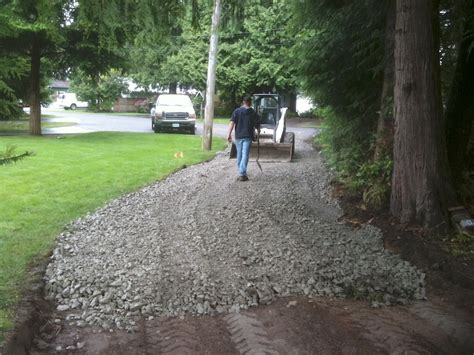 How To Lay Gravel Patio by Kerry Bobcat Driveway Gallery