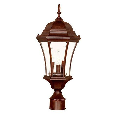 outdoor column mount lighting fixtures acclaim lighting lanai 3 light matte black outdoor post